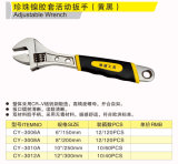Cy-3012A Double Color Handle Adjustable Wrench Hand Tools