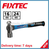 Fixtec Hand Tools Hardware 16oz Ball Pein Hammer with Fiberglass Handle