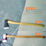 H-80 Construction Hardware Hand Tools Long Wooden Handle Axe