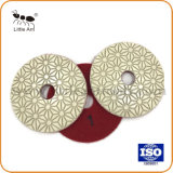 3 Step Diamond Polishing Pad Flower Design Wet Used Diamond Tool for Granite Marble Floor etc.