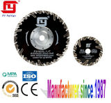 Turbo Diamond Saw Blade with Protective Teeth for Granite