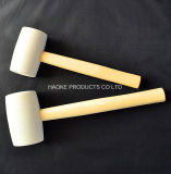 White Color Rubber Hammer with Wooden Handle in Hand Tools Rha-1