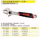 Cy-3008 Double Color Handle Adjustable Wrench Hand Tools