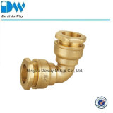 Brass Compression Fitting for PE Pipe Elbow Coupling