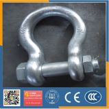 Hot Sale Chinese Cheap Price Good Qualitygalvanized Us Hot Forged Safety Bow Shackle with Nut G2130