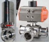 Sanitary Stainless Steel Electric Pneumatic Butterfly Valve