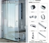 Glass Single Sliding Door Hardware B008 Use for Bathroom