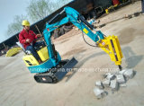 800kg Mini Crawler Excavator with Hammer Attachments for Sale Xn08