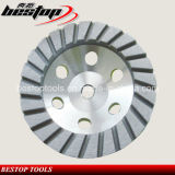 4 Inch Stone Grinding Aluminum Matrix Continuous Diamond Cup Wheel