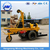 Wheels Rock pneumatic Drilling Rig Machine with Air Compressor