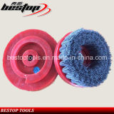 D130mm Snail Lock Backing Silicon Carbide Dimond Abrasive Brush