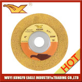 Kexin 4 Inch Non-Woven Polishing Wheel (Yellow, 220 #)