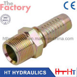 Chinese Manufacturer CNC Machinery Bsp Hydraulic Hose Fitting (10511)