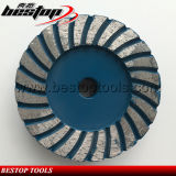 4inch 16# Soft Turbo Diamond Grinding Cup Wheel 5/8