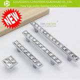 Luxury Square Diamond Zinc Furniture Handle