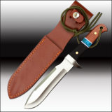 Bowie Knife Machete with Leather Sheath