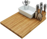 Bamboo Cheese Board Set with Knives and Tray
