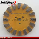 5inch 125mm 100# Grit Medium Bond Hook and Loop Backing Diamond Concrete Grinding Disc