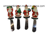 Sculpture Polyresin Santa Handle Butter Knife