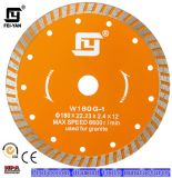 Turbo Type Diamond Saw Blade for Granite (Yellow Color)