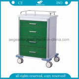 Hospital Trolley Power Coating Steel Medical Cart (AG-GS003)