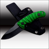 Hunting Knife G10 Handle with Kydex Sheath