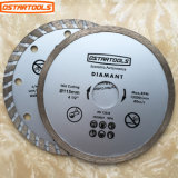 Diamond Continuous Saw Blade for Dry or Wet Cutting with Hot Pressed and Cold Pressed