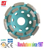 Double Row Diamond Grinding Cup Wheel for Stone Grinding