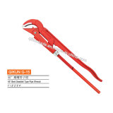G-15 Construction Hardware Hand Tools 45 Degree Bent Swedish Type Pipe Wrench