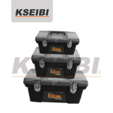 Durable 3-PC Plastic Tool Box Set with Steel Lock -Kseibi