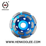 Double Row Cup Diamond Grinding Wheel for Stone