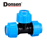 2018 90 Equal Tee Pn10 PP Compression Fittings