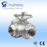 Stainless Steel 3 Way Ball Valve with ISO5211 Pad (Q11F)