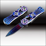 New Pretty Top Folding Knife with 3D Colour Coated