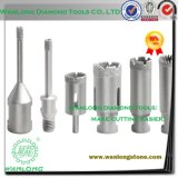 Welding Diamond Drilling Tools for Stone Concrete Processing, Laser Stone Drill Bit