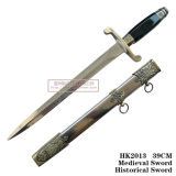 European Dagger Cavalry Sword Home Decoration Western Historical Dagger 39cm
