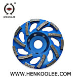 High Efficiency L Type Shaped Diamond Cup Wheel Segments for Concrete Grinding