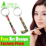 Hot Cheap Zinc Alloy PVC Custom Keychains Home for Gift
