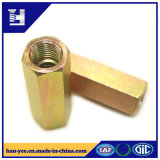 Hexagon Coupling Galvanized Steel Lock Slotted Nut