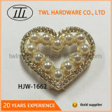 Heart Shape Pearl Decoration Hardware, Metal Fittings for Handbag