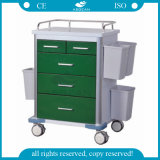 AG-GS002 Power Coating Steel Hospital Cart Medical Trolley