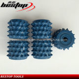 60 Teeth Diamond Bush Hammered Roller for Lichi Surface Fabricating