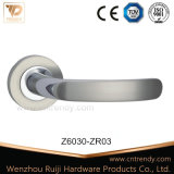 Zinc Zamak Chrome Door Lock Handle on Square Rose (Z6030-ZR03)