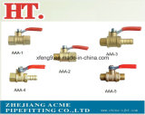 Thread Brass Gas Ball Valve with Steel Handle