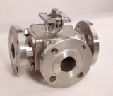 Stainless Steel 3 Way Flange Direct Mounting Pad Ball Valve