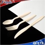 Clear Color Heavy Weight Fork Knife and Spoon