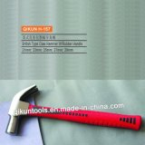 H-157 Construction Hardware Hand Tools British Type Claw Hammer with Red Rubber Coated Handle