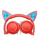 Wired LED Light Cat Ear Shaped Headphones