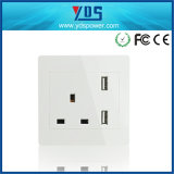 3 Pin British electric Socket Wall Electric USB Socket Outlet