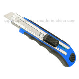 Automatic Blade Lock Comfortable Utility Knife with Extra Lock (381038)